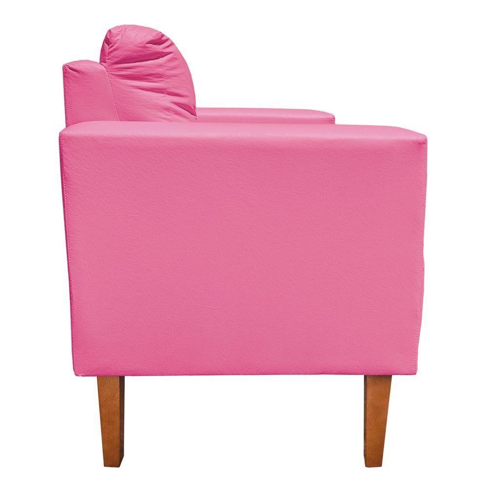 Poltrona Decorativa Lívia Corino Pink Pés Chanfrado D'Rossi