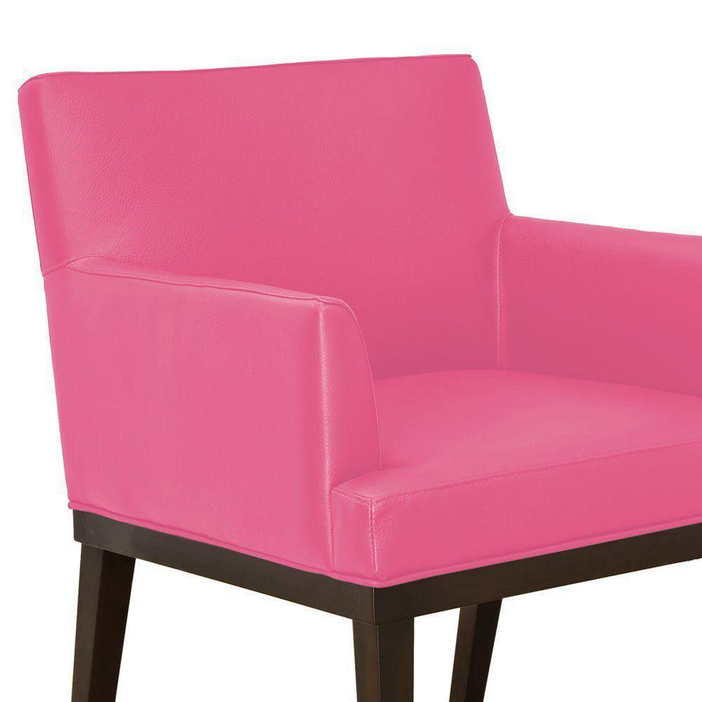Poltrona Vitória Corino Pink D'Rossi