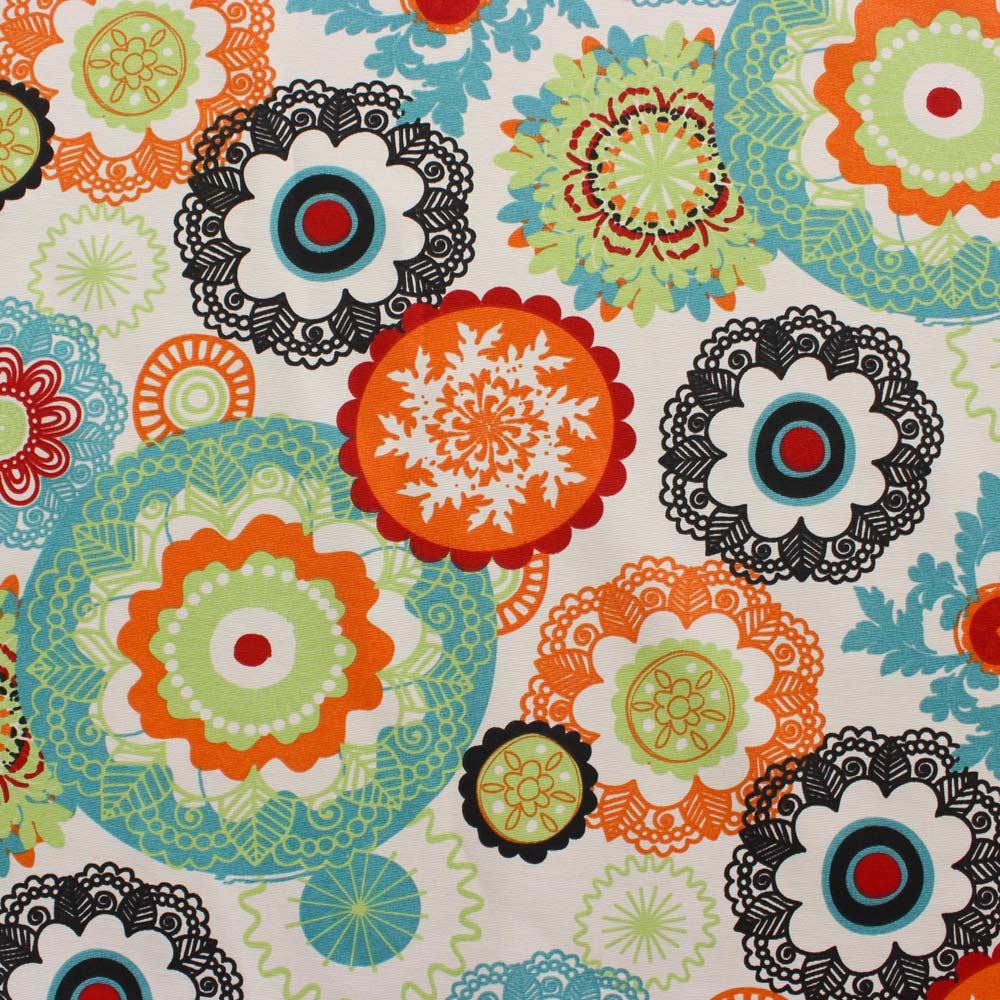 Poltrona Decorativa Lívia Estampado Floral Laranja D31 Pés Chanfrado D'Rossi