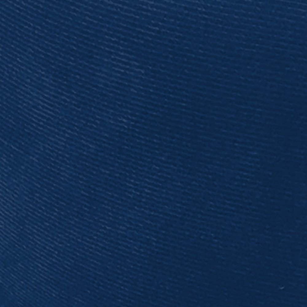Poltrona Opala Estampado Preto Escrito D62 e Suede Azul Marinho Pés Palito Castanho D'Rossi