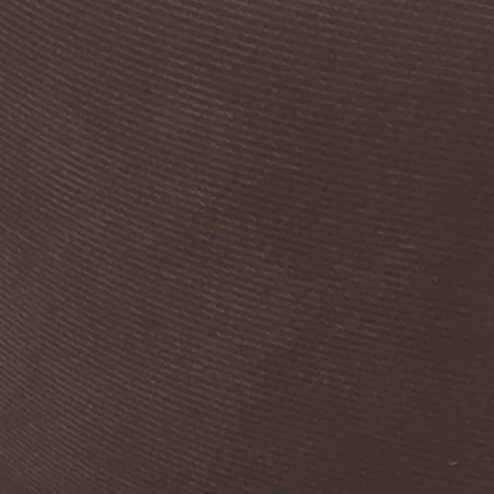 Poltrona Opala Estampado Preto Escrito D62 e Suede Marrom Pés Palito Castanho D'Rossi