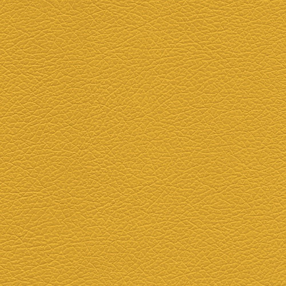 Poltrona Veronês Corino Amarelo Pés Palito Castanho D'Rossi