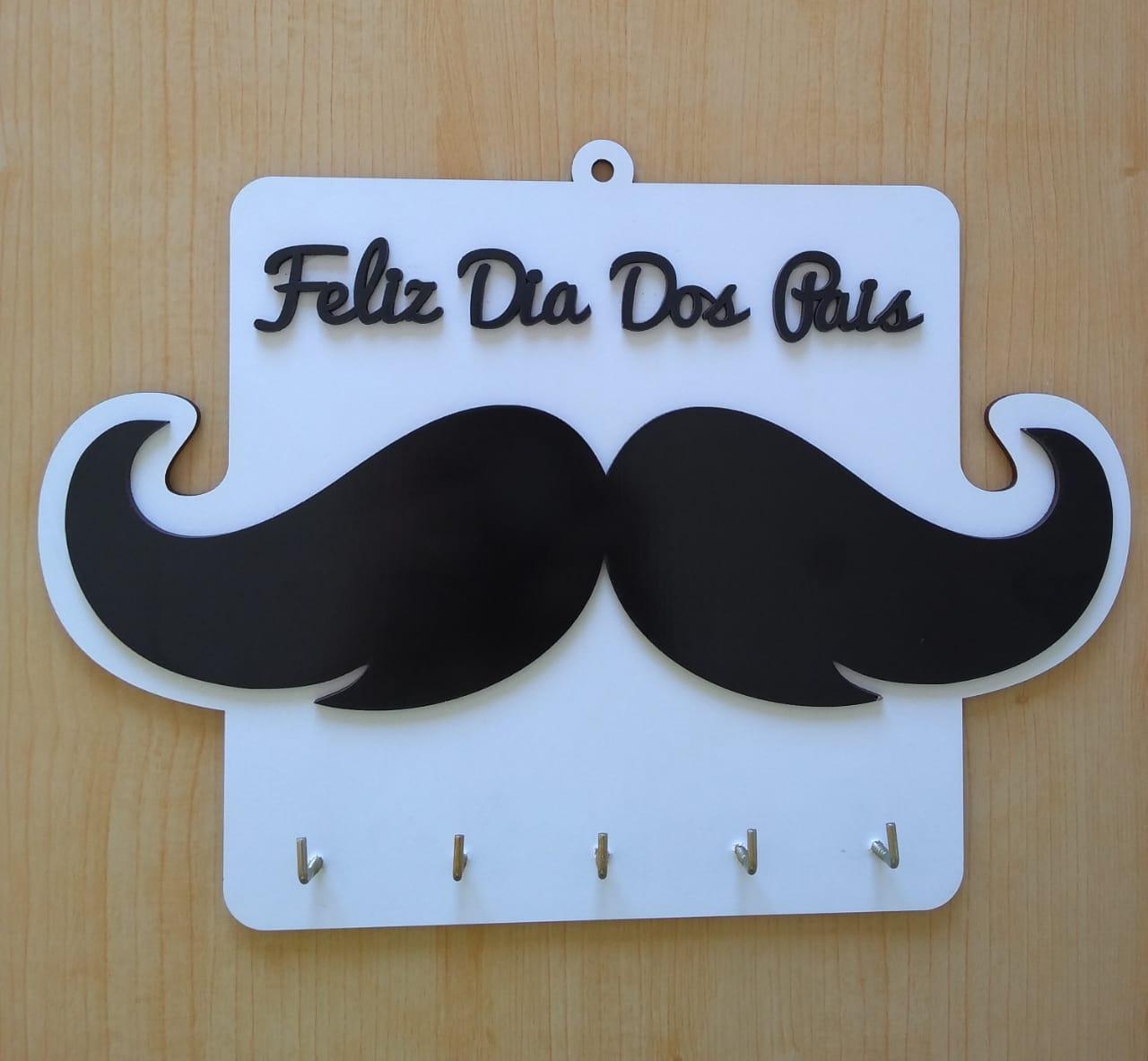 Porta Chaves Lembrancinha Dia dos Pais MDF Branco 17X25 - D'Rossi