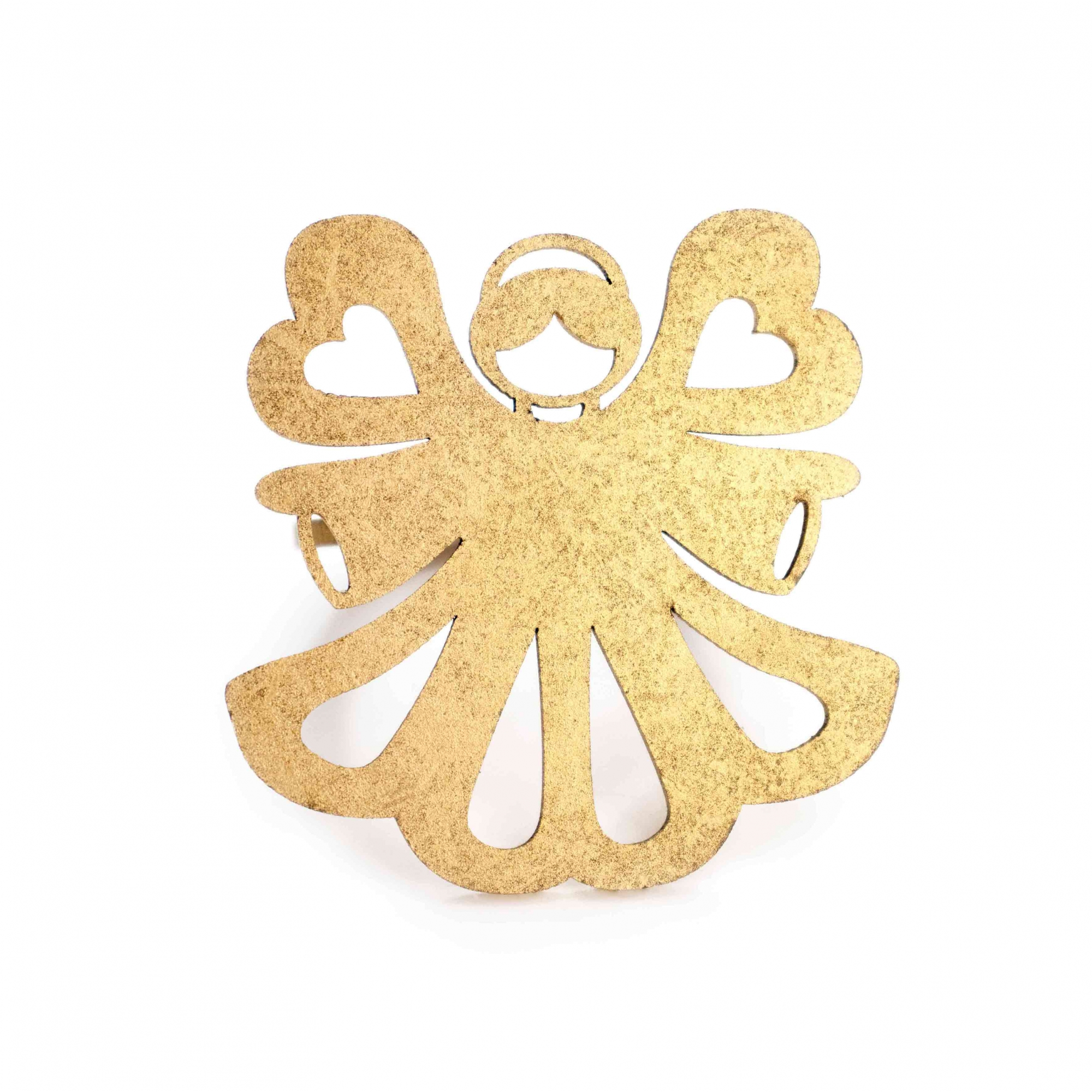 Porta Guardanapo de MDF Anjo Dourado 6 cm - D'Rossi