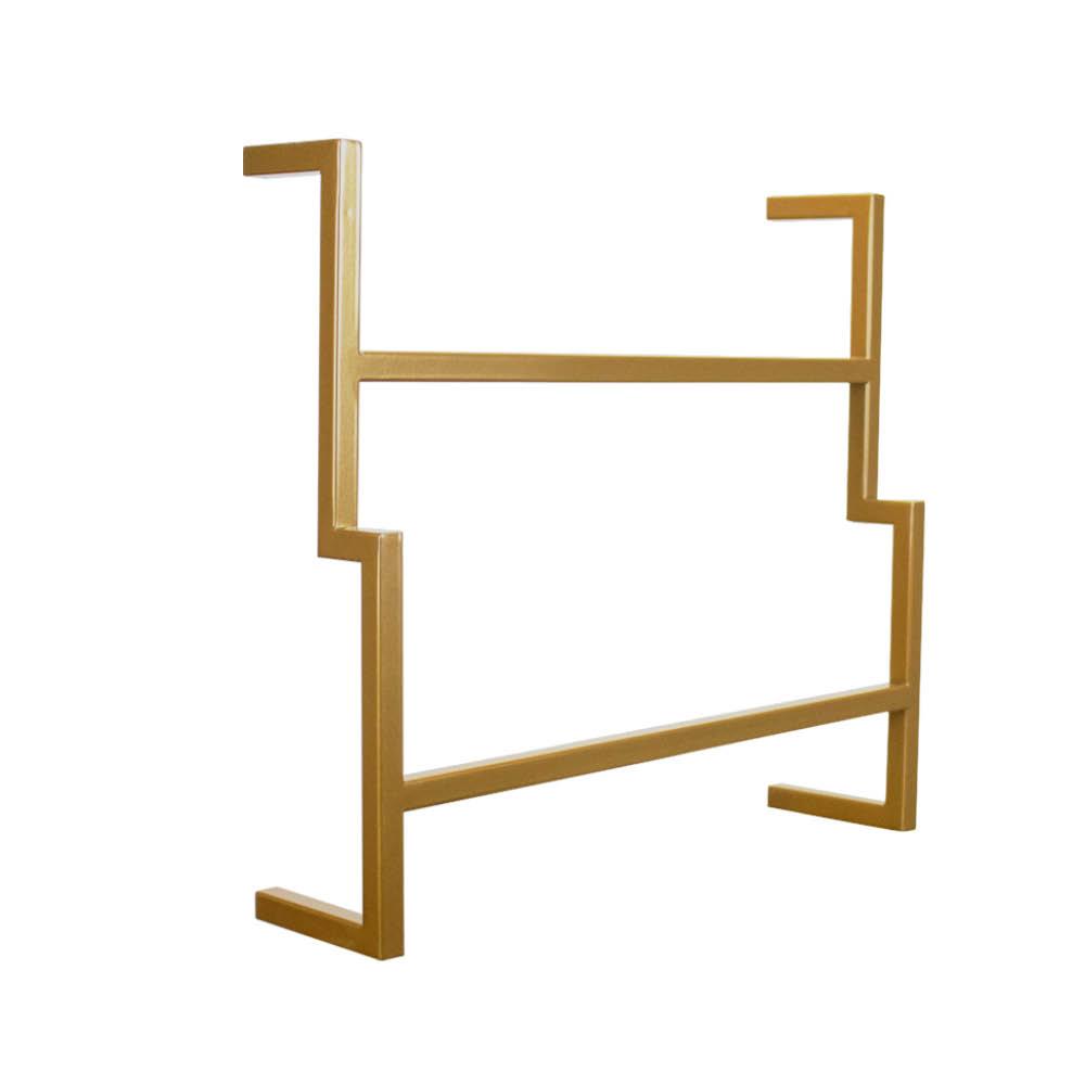 Porta Toalha de Rosto Industrial Metálico Dourado 35 cm - D'Rossi