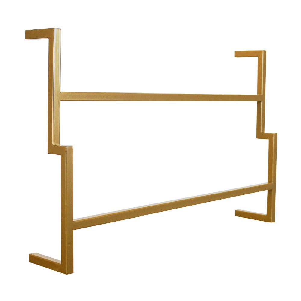 Porta Toalha de Banho Industrial Metálico Dourado 60 cm - D'Rossi