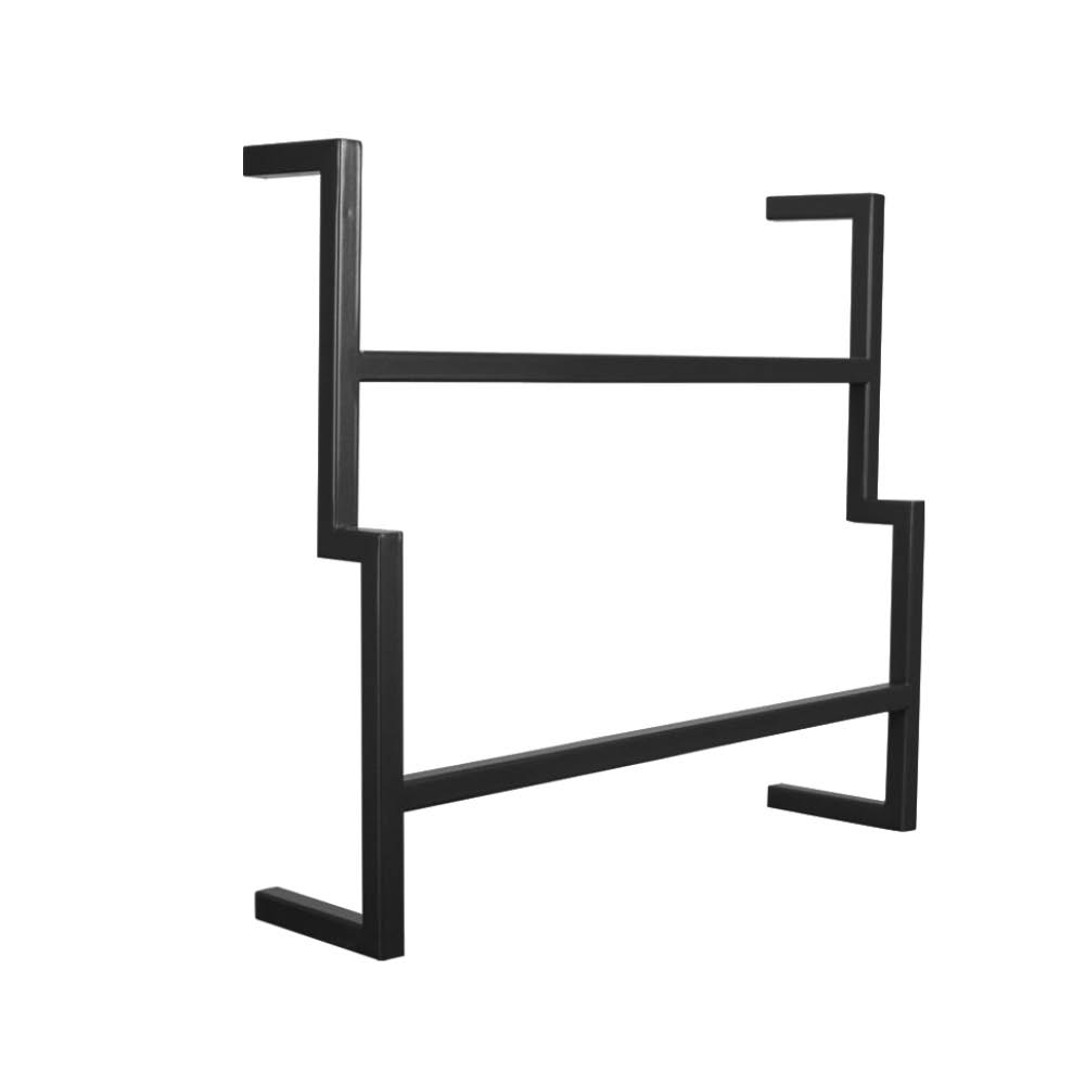 Porta Toalha de Rosto Industrial Metálico Preto 35 cm - D'Rossi