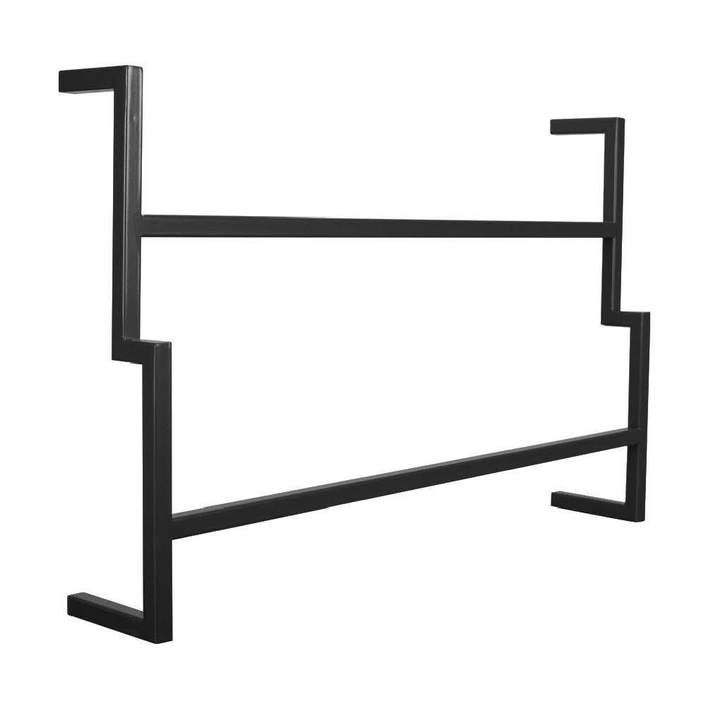Porta Toalha de Banho Industrial Metálico Preto 60 cm - D'rossi