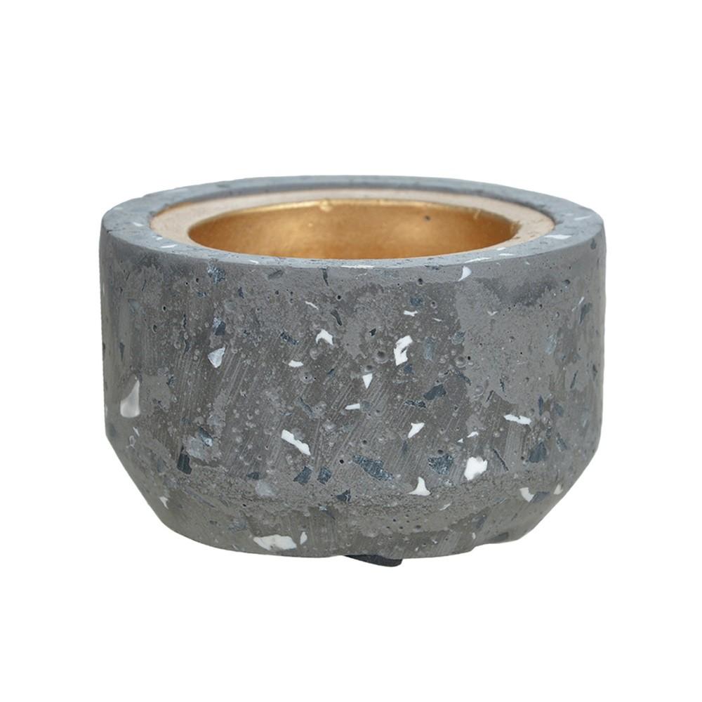 Porta Vela Cinza em Cimento 5 cm D'Rossi