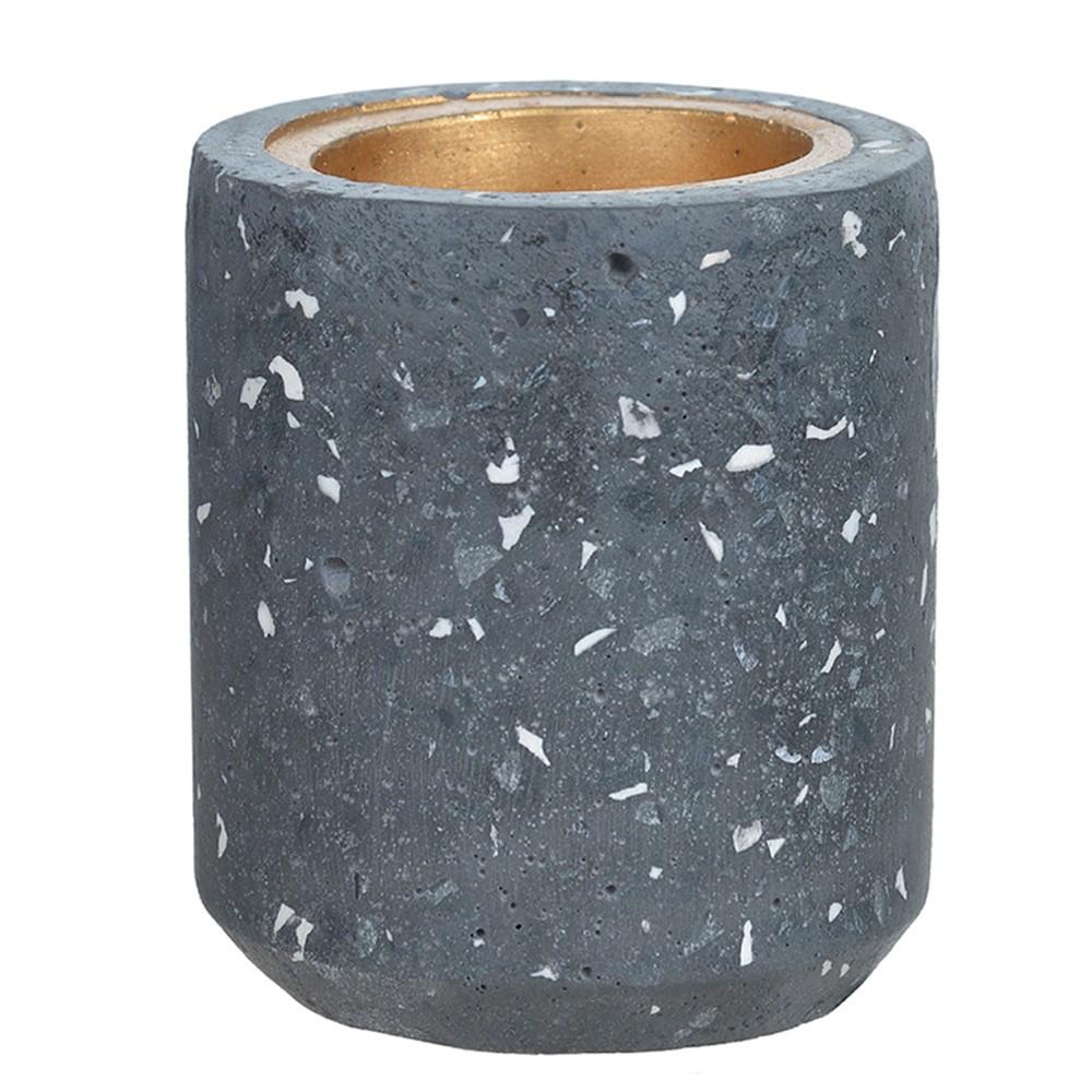 Porta Vela Cinza Escuro em Cimento 10 cm D'Rossi
