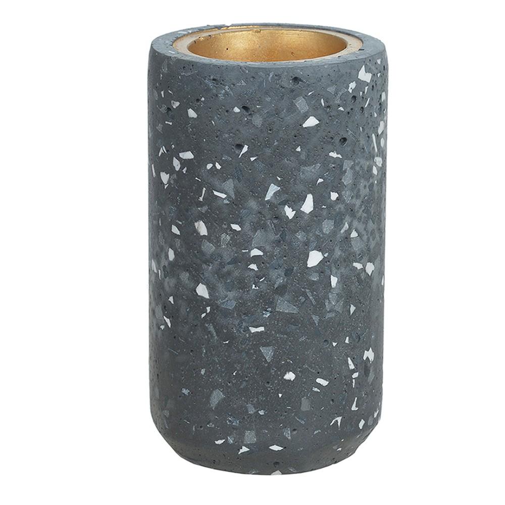 Porta Vela Cinza Escuro em Cimento 14 cm D'Rossi