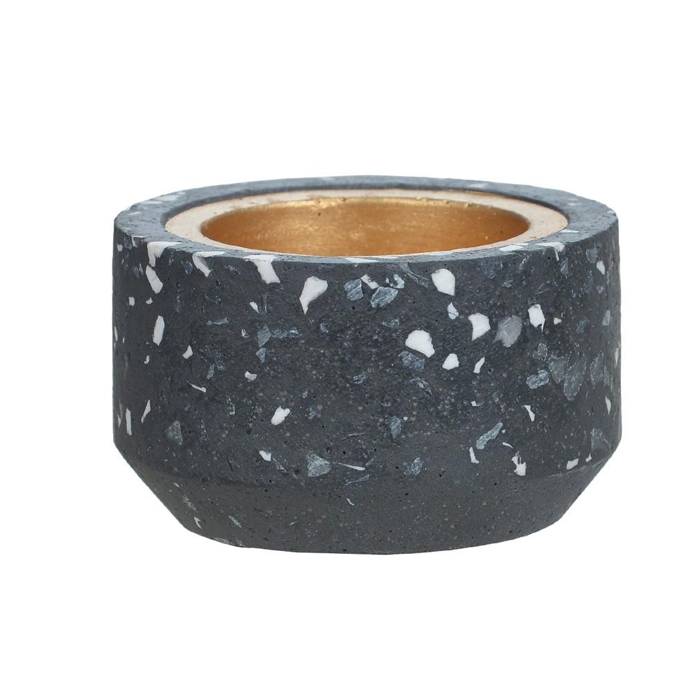Porta Vela Cinza Escuro em Cimento 5 cm D'Rossi