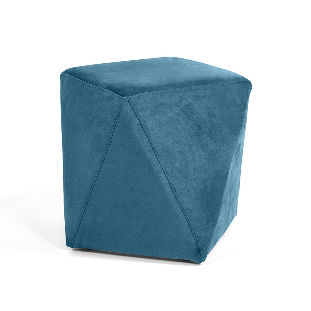 Puff Ametista Veludo Azul B-170 - D'Rossi