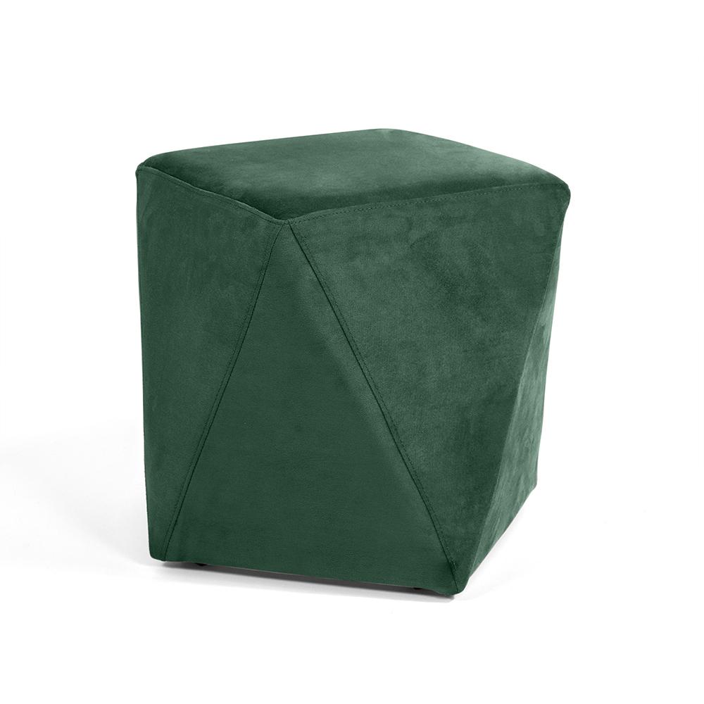 Puff Ametista Veludo Verde Esmeralda B-303 - D'Rossi