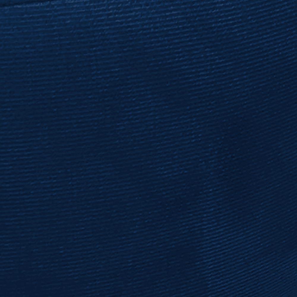 Puff Banqueta Berlim Redondo Suede Azul Marinho Pés Natural D'Rossi