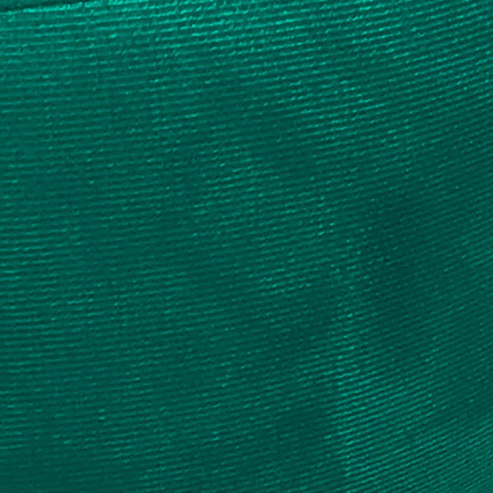 Puff Banqueta Berlim Redondo Suede Verde Turquesa Pés Castanho D'Rossi