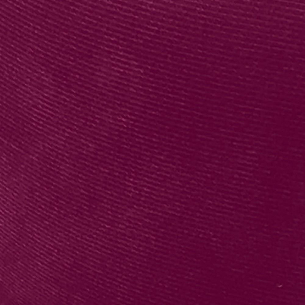 Puff Banqueta Decorativa Dora Redondo Suede Vinho - D'Rossi