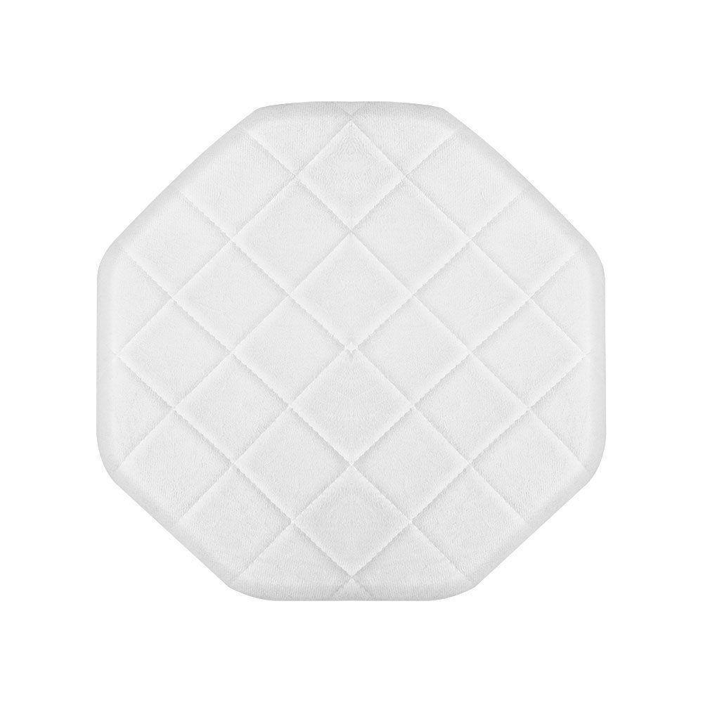 Puff Banqueta Decorativo Veronês Suede Branco - D'Rossi