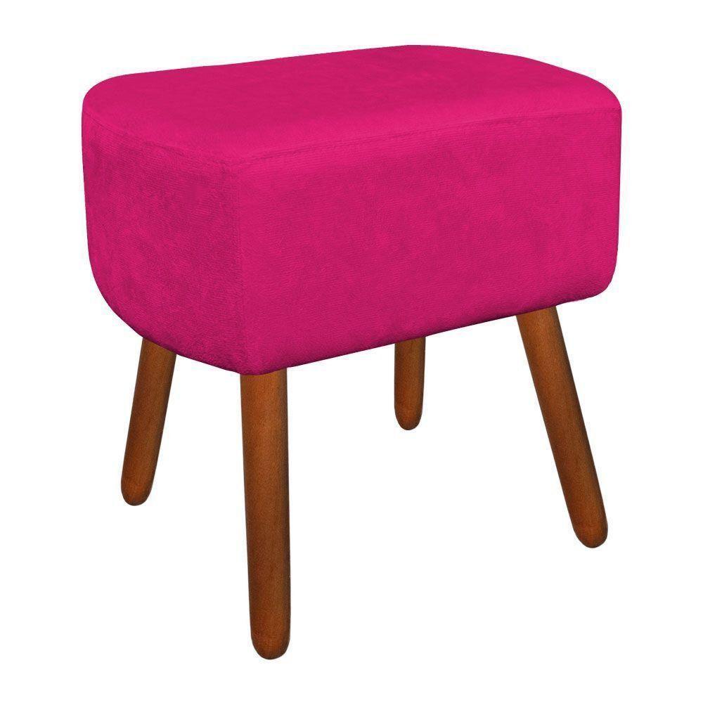 Puff Decorativo Curvo Agatha Suede Pink - D'Rossi