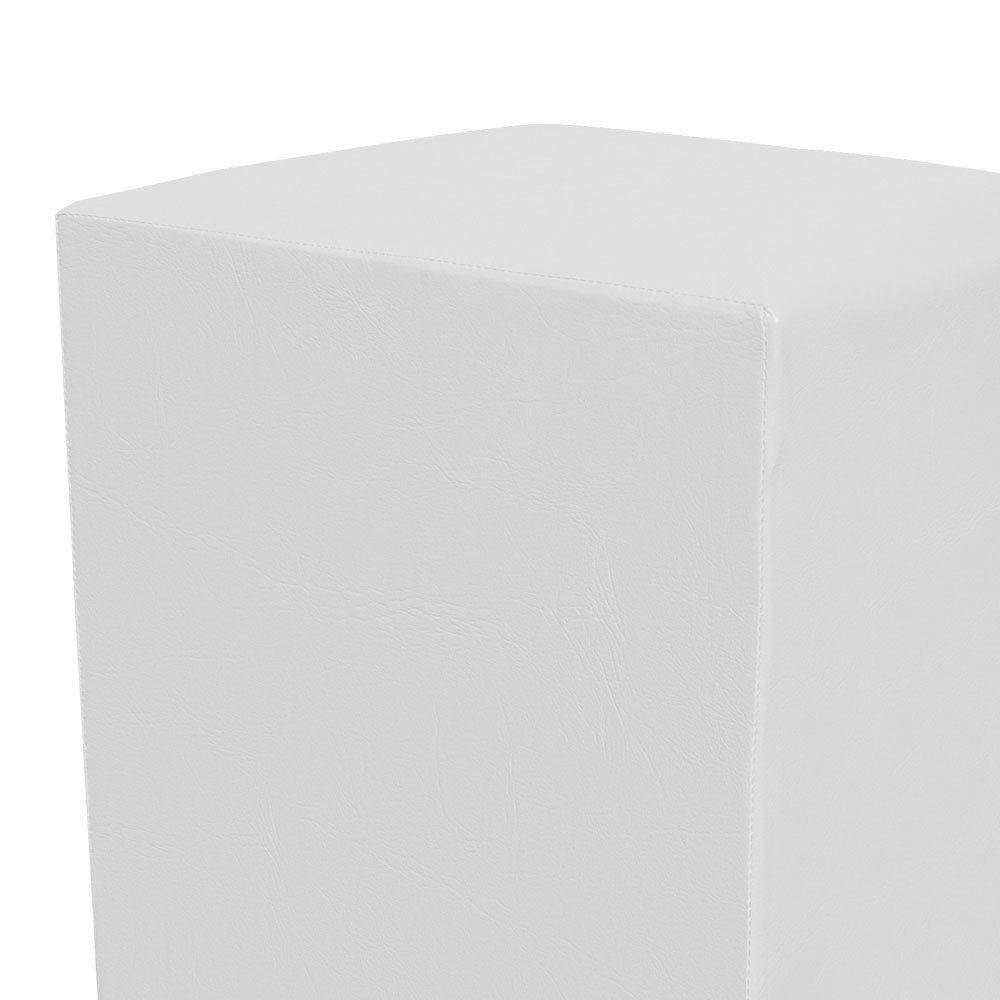Puff Decorativo Dado Quadrado Corino Branco - D'Rossi