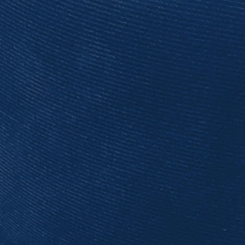 Puff Decorativo Josy Suede Azul Marinho Pés Palito Castanho D'Rossi
