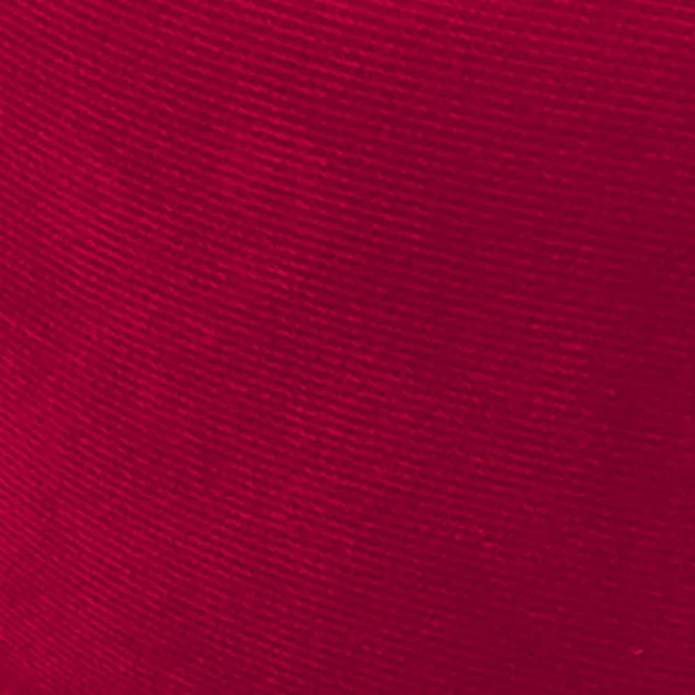 Puff Decorativo Josy Suede Vermelho Pés Palito Castanho D'Rossi