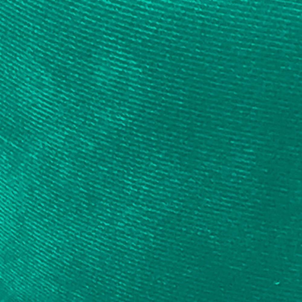 Puff Decorativo Livia Pés Chanfrado Suede Verde Turquesa - D'Rossi