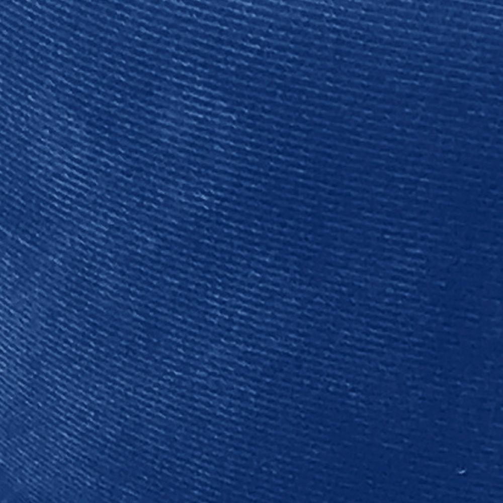 Puff Opala Suede Azul Royal Pés Palito Castanho D'Rossi