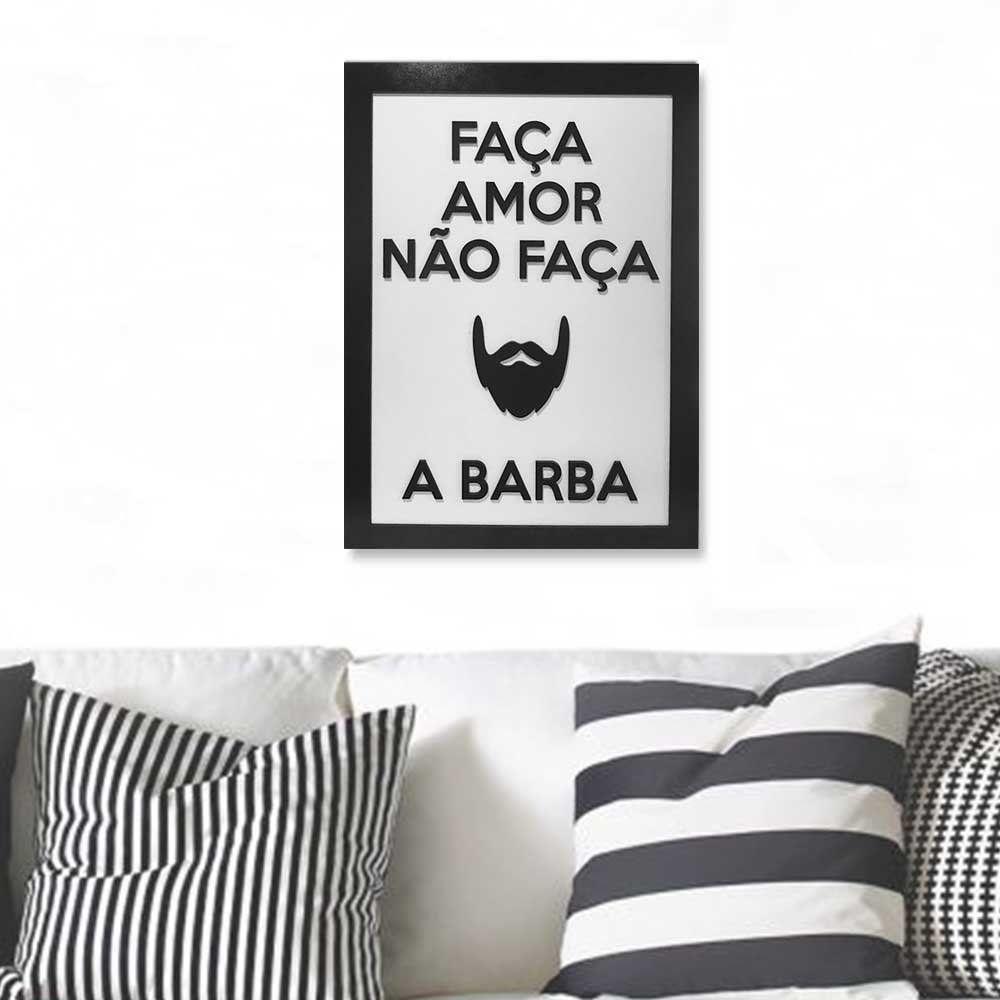 Quadro Decorativo ''Barba'' 40x30 com Base - D'Rossi