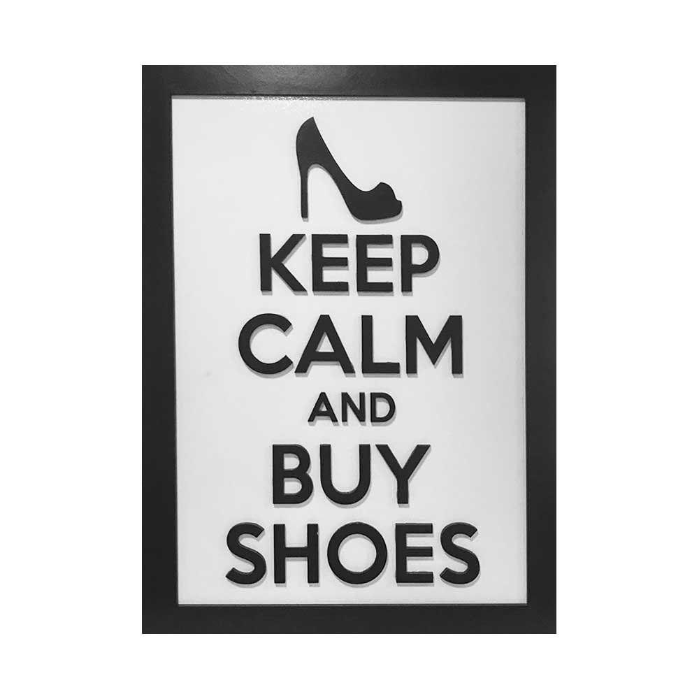 Quadro Decorativo ''Buy Shoes'' 40x30 com Base - D'Rossi
