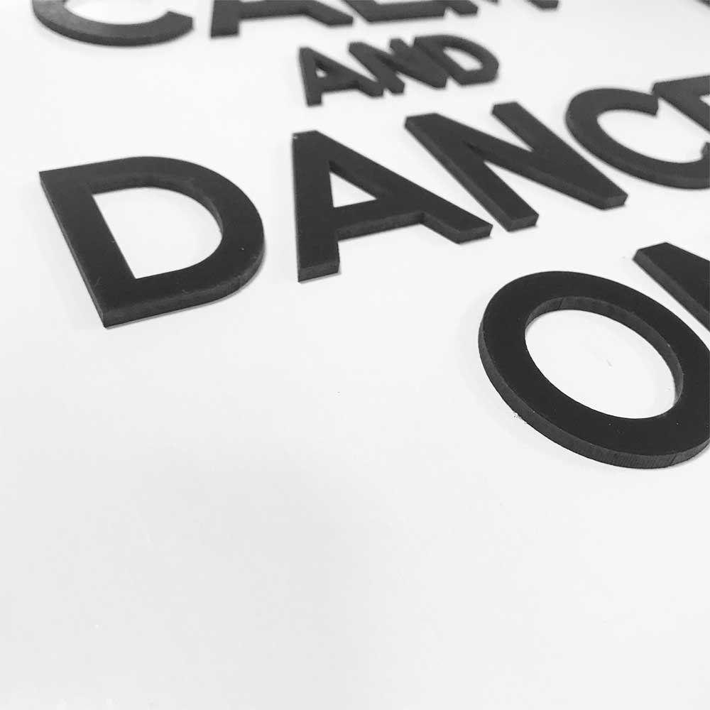 Quadro Decorativo ''Dance On'' 40x30 com Base - D'Rossi