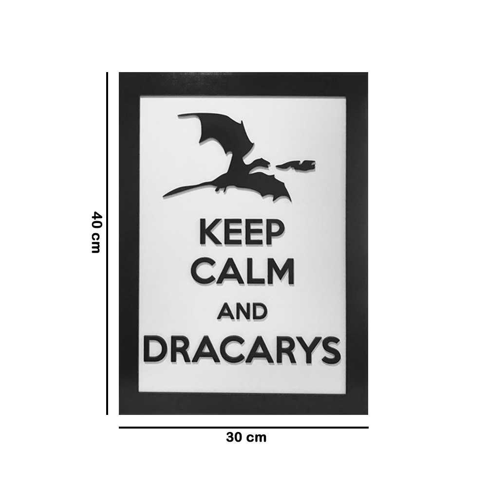 Quadro Decorativo ''Dracarys'' 40x30 com Base - D'Rossi