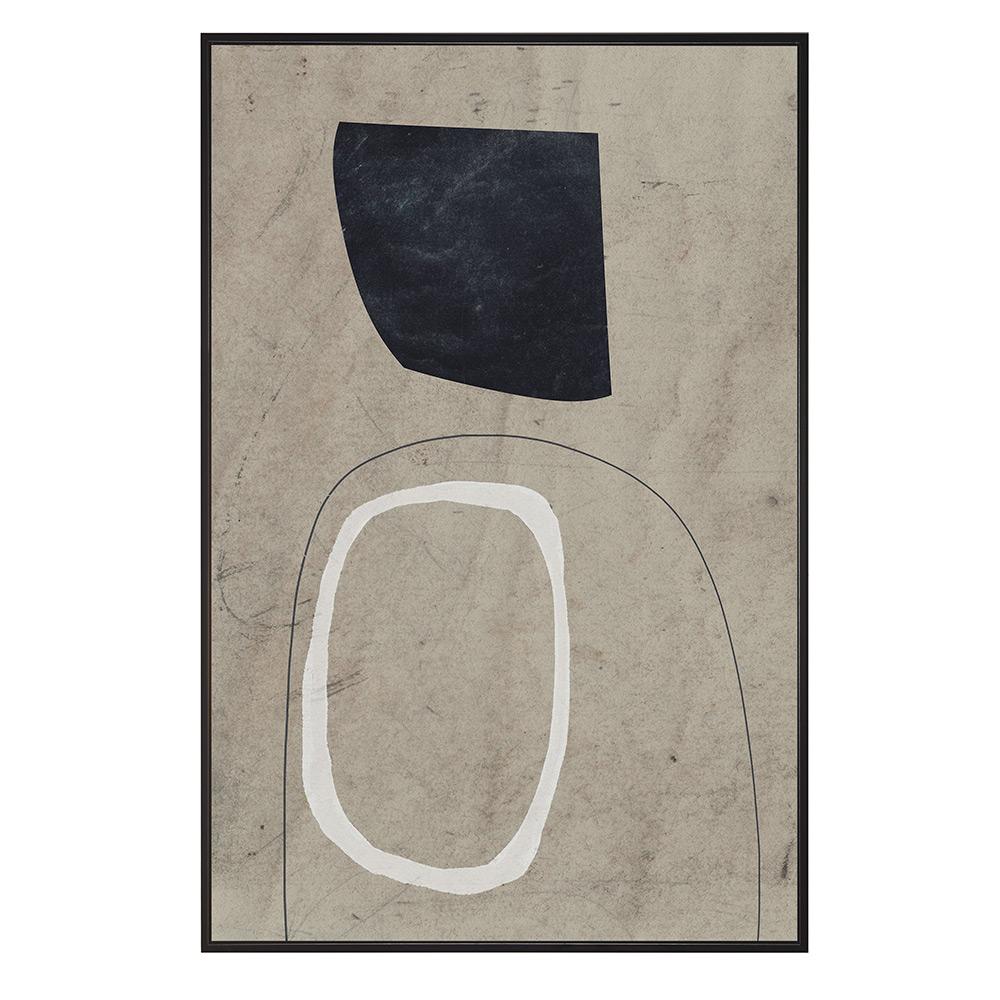 Quadro Decorativo em Canvas Branco e Cinza 60x90 cm - D'Rossi