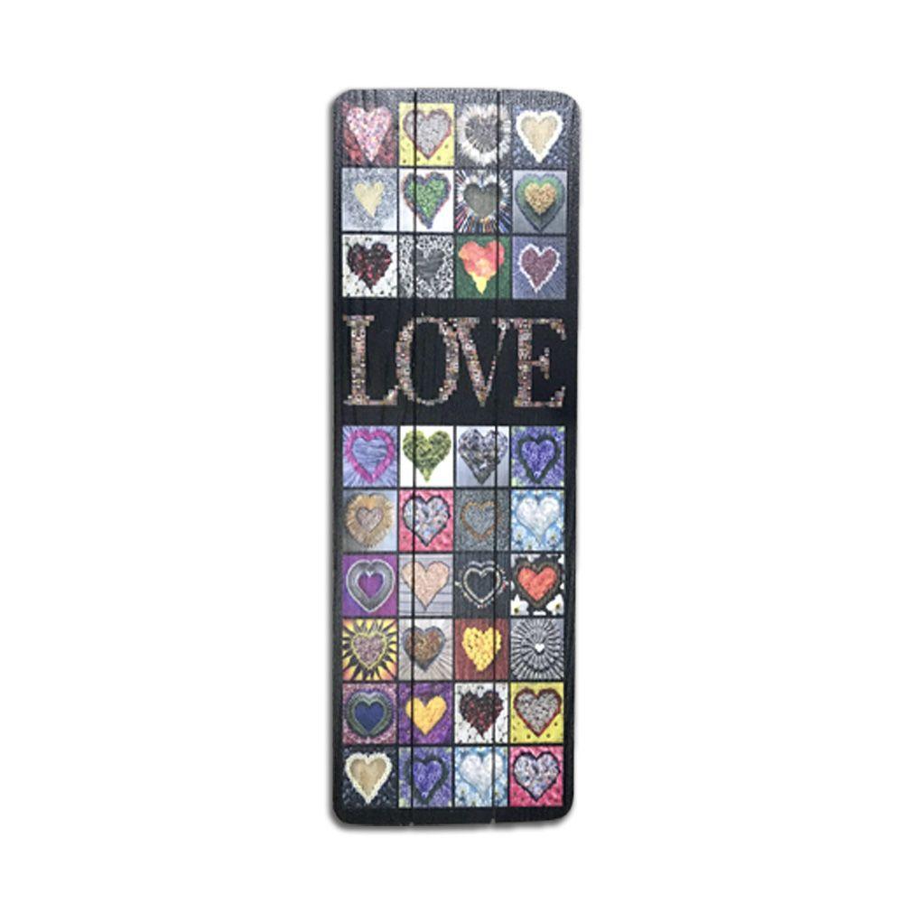 Quadro Decorativo em LOVE 20X60CM - D'Rossi