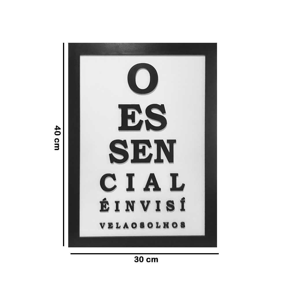 Quadro Decorativo ''Essencial'' 40x30 com Base - D'Rossi