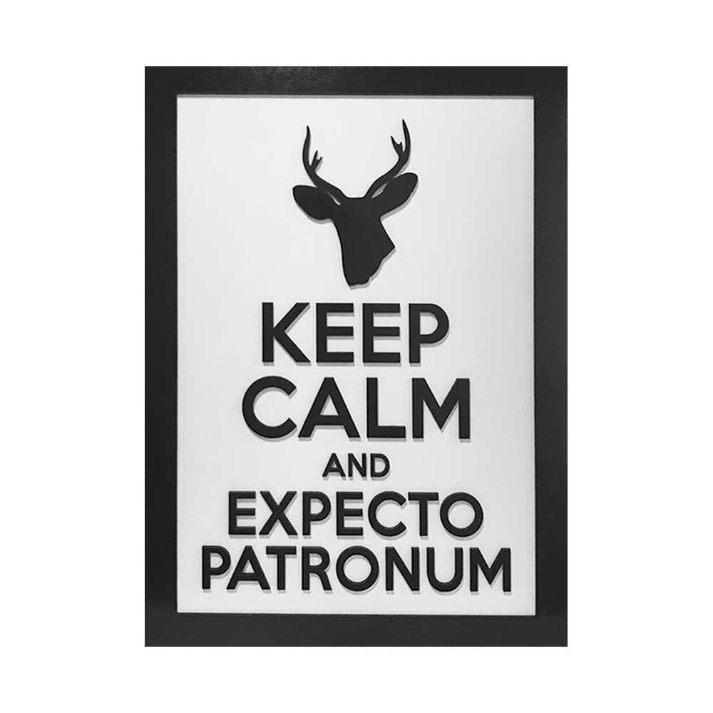 Quadro Decorativo ''Expecto Patronum'' 40x30 com Base - D'Rossi