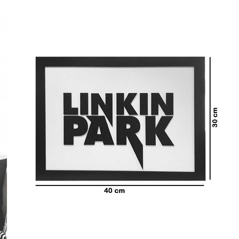 Quadro Decorativo ''Linkin Park'' 40x30 com Base - D'Rossi