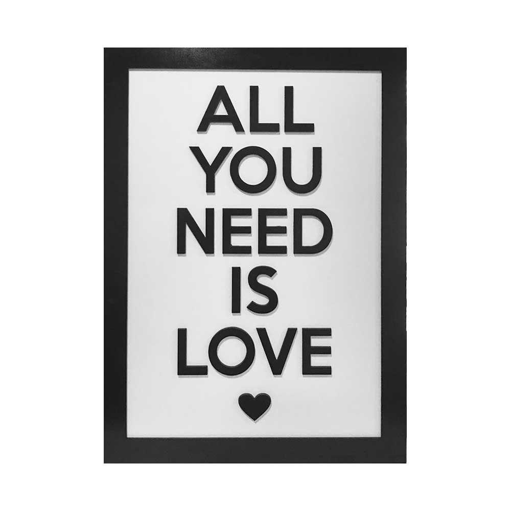 Quadro Decorativo ''Love'' 40x30 com Base - D'Rossi