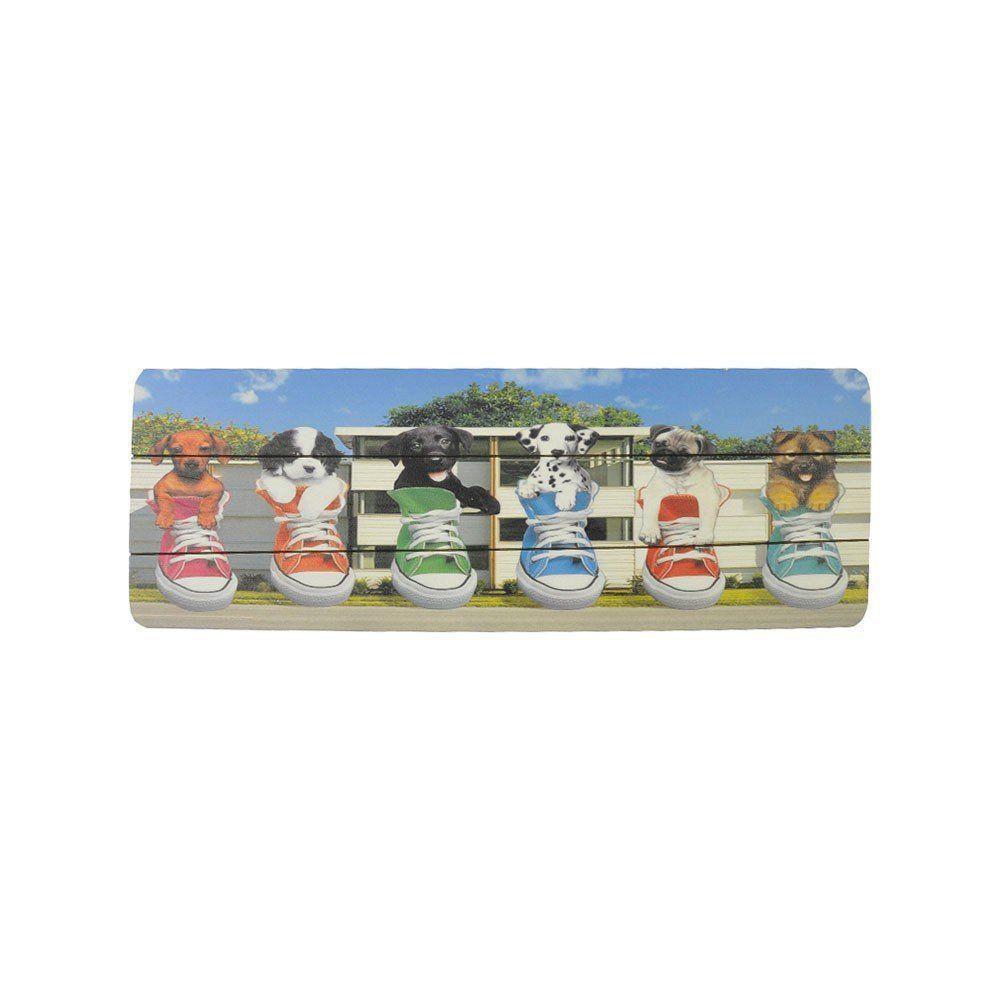 Quadro Decorativo MDF Colorido 20x60 Cachorro - D'Rossi