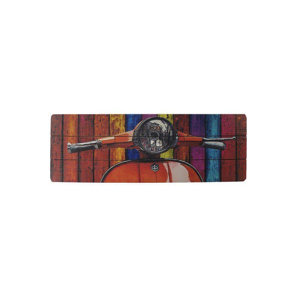 Quadro Decorativo MDF Colorido 20x60 Lambreta - D'Rossi