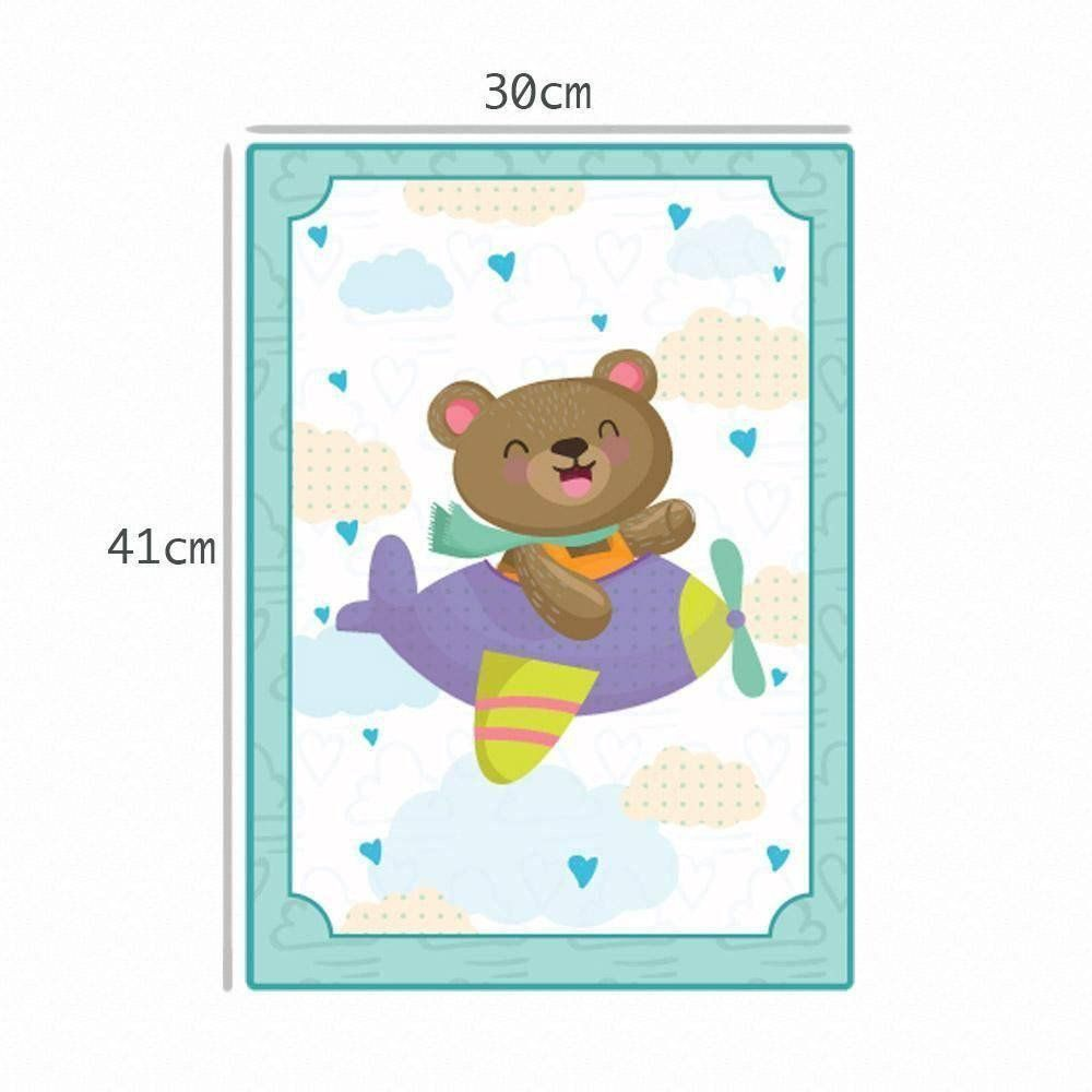 Quadro Decorativo Para Bebe 3D Ursinho 30 X 41 - Cia Laser