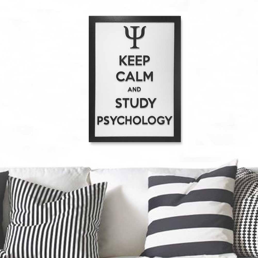 Quadro Decorativo ''Study Psychology'' 40x30 com Base - D'Rossi