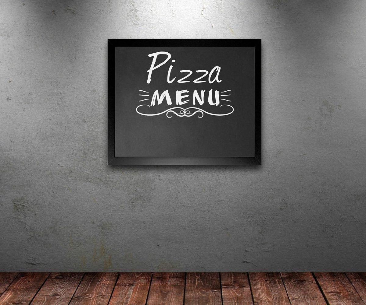 Quadro Negro Lousa Decorativa Menu Cozinha 48X35 - D'Rossi