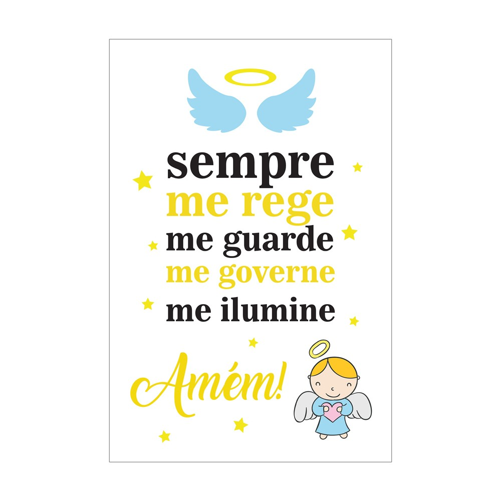 Quadro Placa Decorativa Infantil Anjinho D'Rossi