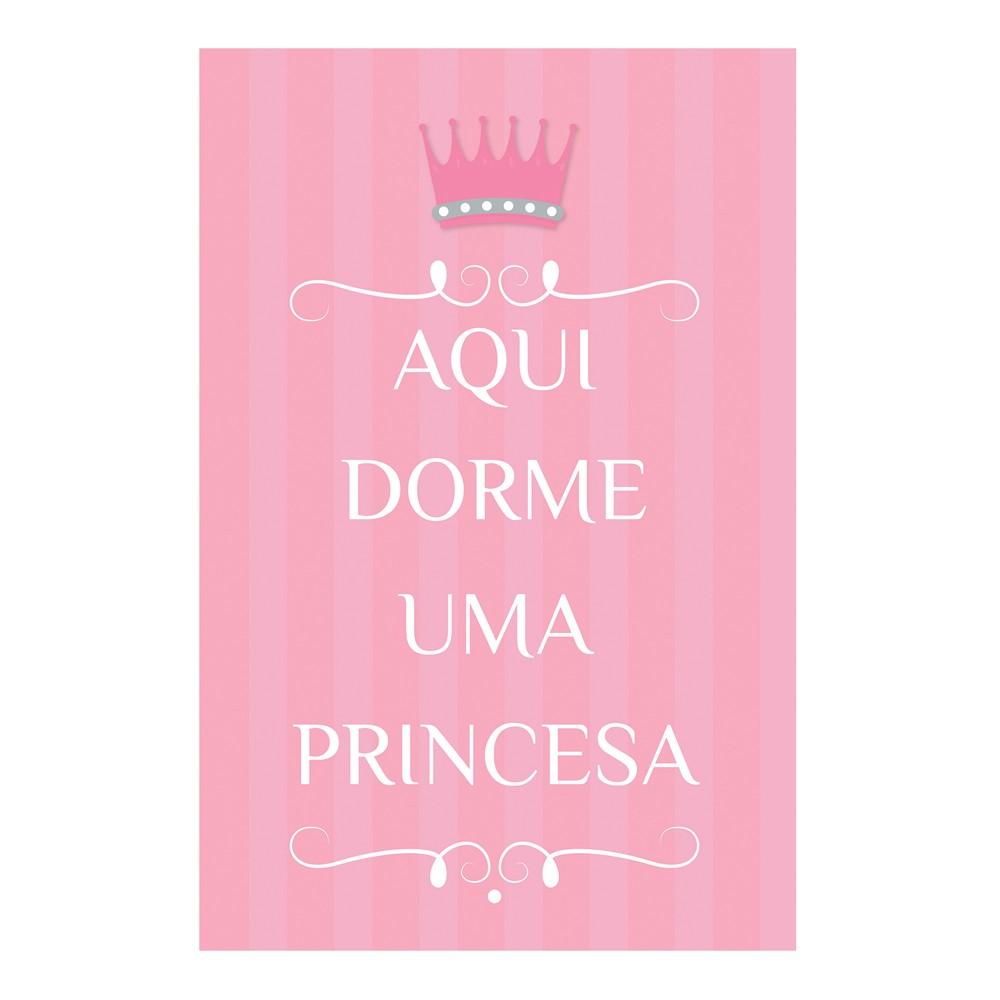 Quadro Placa Decorativa Infantil Princesa D'Rossi