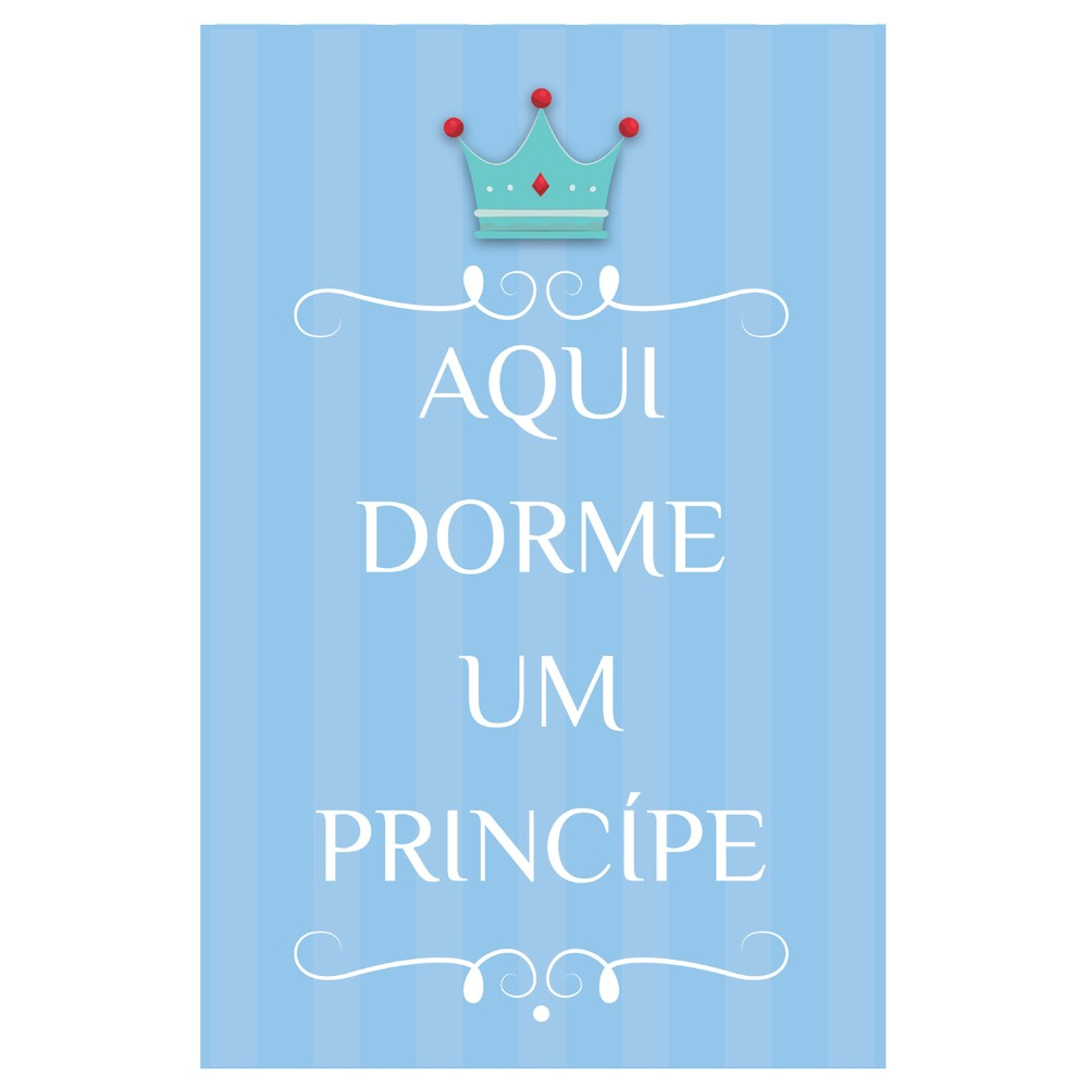 Quadro Placa Decorativa Infantil Príncipe D'Rossi