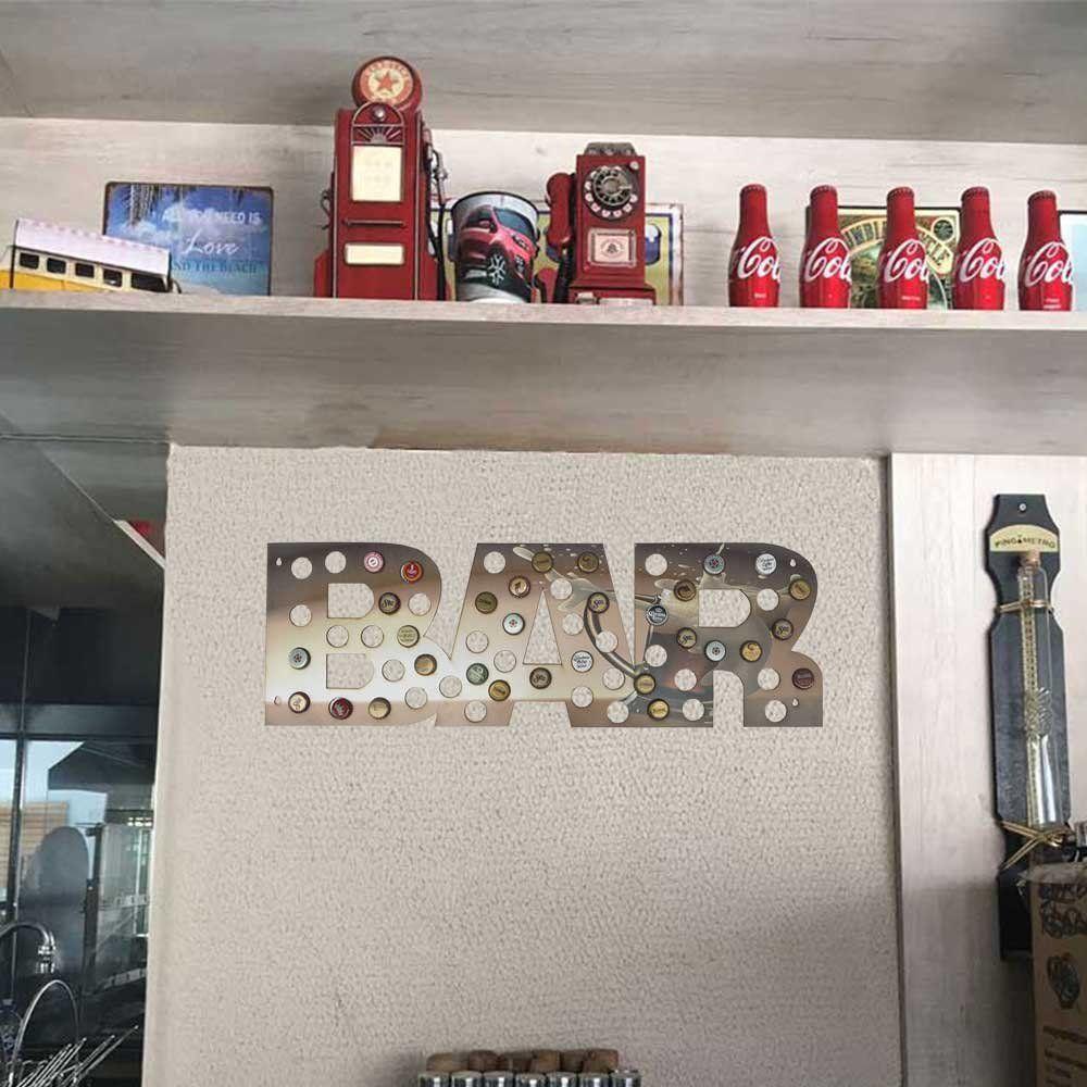 Quadro Decorativo Porta Tampinhas MDF Caneca 25x75 BAR - D'Rossi