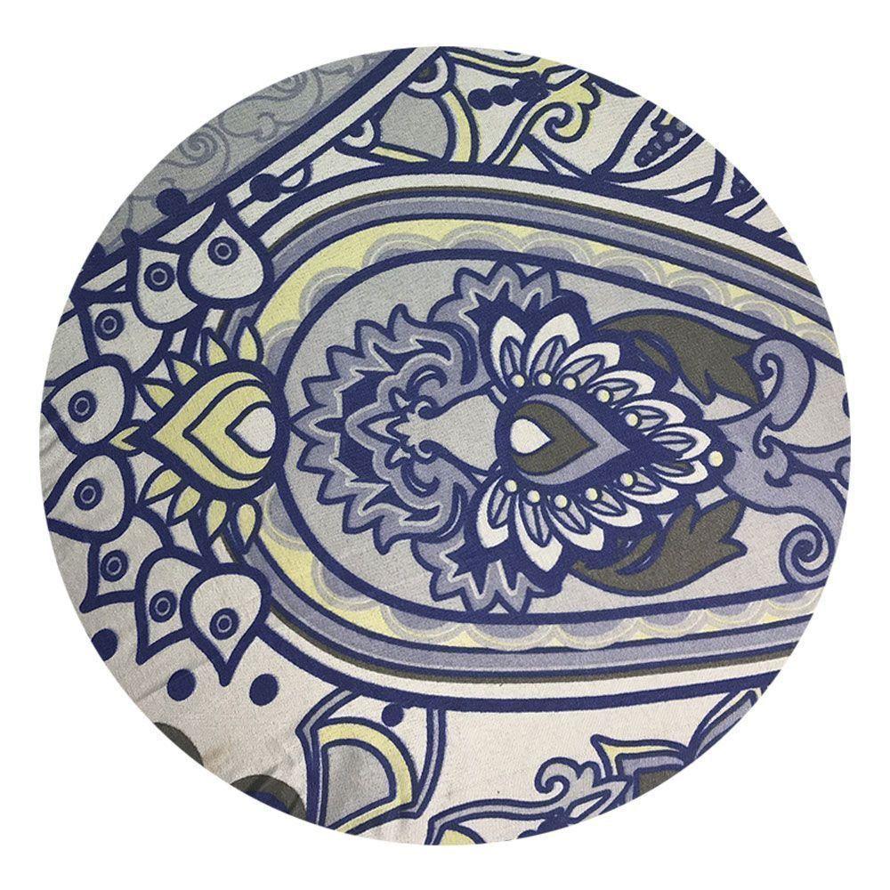 Sousplat Para Prato Suporte De Mesa Decorativo Azul Oriental 30 cm - D'Rossi