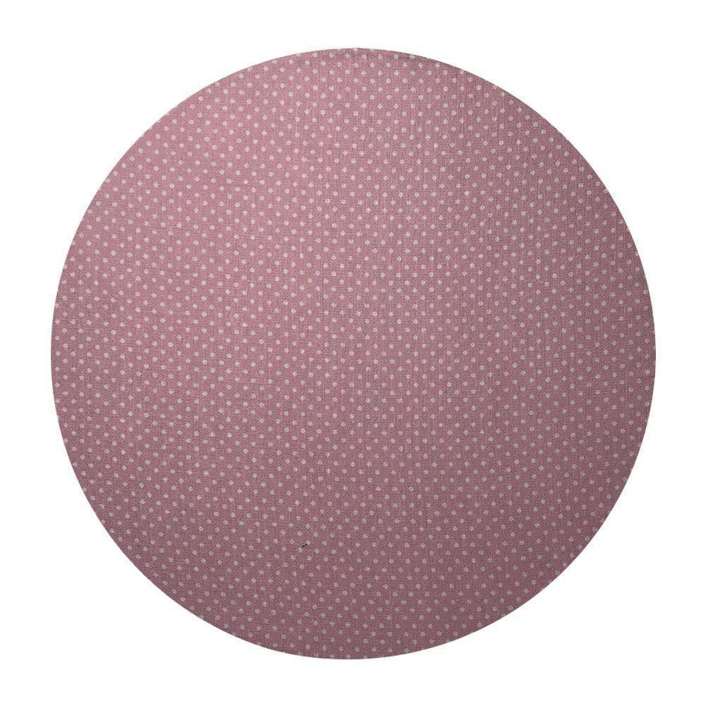 Sousplat Para Prato Suporte De Mesa Decorativo Rose Poá 30 cm - D'Rossi