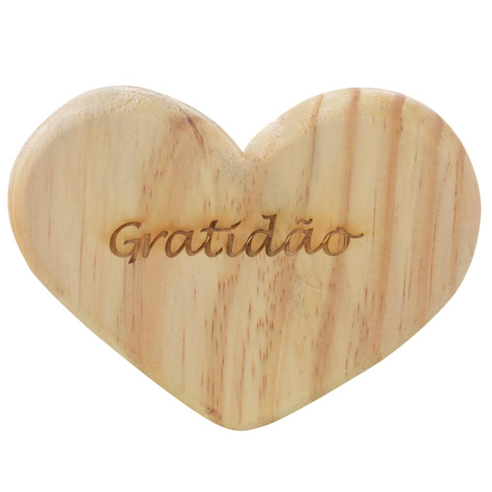 Tábua de Madeira Natural Coração D'Rossi